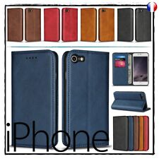 Etui housse coque Cuir PU Leather Magnetic Wallet Case iPhone 7 8 X 7+ 8+ plus
