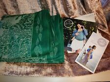 Oscha Slings Green Nature bamboo LeafDesign Baby Wrap Sling cotton silk size 5