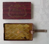 ✔ Antique Longines Wittnauer Gold Tone Box Vintage Art Deco Mesh Bracelet