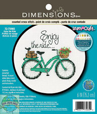 'Learn a Craft' Cross Stitch Kit ~Enjoy The Ride Bicycle #72-73985 Free Shipping