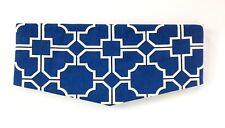 Window Valance Blue White Geometric Design Lined Rod Pocket Custom Curtain NEW