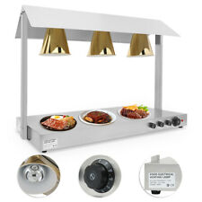 3 Heads Food Warmer Lamp Buffet Heating Lamps Infrared Egg Tarts Pizza Cabinet
