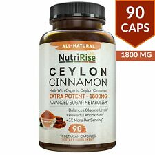 Ceylon Cinnamon 1800mg Made W Organic 100 Pure Suppleme 90 Count