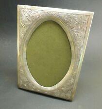 Vtg.Sterling Silver Hand Engraved  Picture Frame Standing Photo Frame