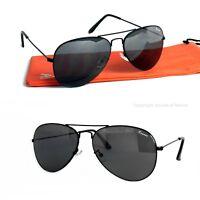 Rennec Piloten Sonnenbrille Pilotenbrille Schwarz UV400 70er Retro Edelstahl R22