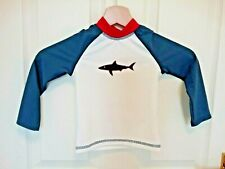 Boys shark rash vest swim top age 18-24 month sun protecting UPF50 RRP 22.00 new