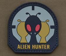 "PVC / Rubber Patch ""Alien Hunter"" with VELCRO® brand hook"