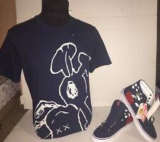 "Brand New- Vans sk8 Hi ""Snoopy"" Size 9.5 with Matching KAWS Shirt Size Medium"