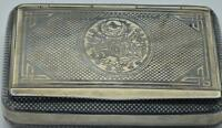 RARE antique Ottoman Empire silver&niello cigarette case/snuff box.Tughra.Mint