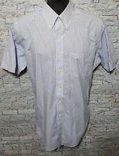Brooks Brothers Men's 15.5 White/Blue Plaid Short Sleeve Button Down Dress Shirt