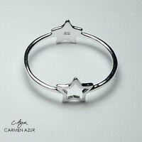 925 Sterling Silver Ring Slim Two Stars Size L,L1/2,M,N1/2,O,P1/2,Q inc Gift Bag