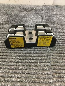 Used Bussmann G30060-2CR Fuse Holder 480V-60A