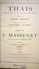 J Massenet : Thais : Music Score