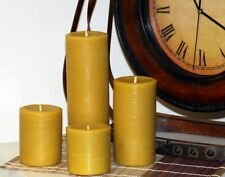 """Handmade 100% Pure Beeswax Pillar Candles 100% Cotton Wick 3"""" Thick"""
