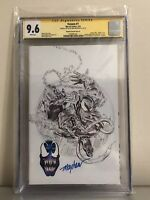 Venom 1 Mike Mayhew B&W Sketch CGC 9.6 SS/Remark KRS Convection Exclusive!🔥🔥