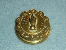 "Antique Brass ""ROTATING"" WHIST MARKER - PLAYING CARDS Embossed Base 1860 Reg. #1"