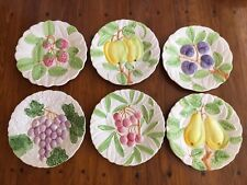 "VINTAGE SET 6 Shafford ""FRUIT DU JOUR"" DESSERT PLATES JAPAN - DATED 1987"