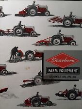 Dearborn Implement Attachments Ford 9N 8N Tractor Color Sales Brochure Catalog
