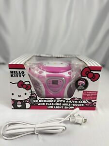 Hello Kitty KT2025 Portable CD Boombox with AM/FM Stereo Radio & LED Light Show