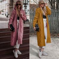 Women's Cardigan Long Loose Coat Sweater Sleeve Knitted Oversized Jumper Outwear