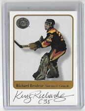 RICHARD BRODEUR 2001 FLEER GREATS OF THE GAME AUTOGRAPH AUTO