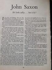 K3-7 Ephemera 1950s Film Article John Saxon Actor Hollywood