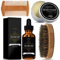New Beard Care Grooming Kit-Beard Growth Oil & Balm & Comb & Brush Gift for Men