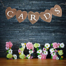 CARDS Bunting Flags Banner Rustic Burlap Banner Wedding Baby Shower Decor