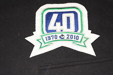 VTG Rare Vancouver Canucks 40th 40 Year Anniversary NHL Logo Hockey Patch 2010