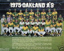 1975 OAKLAND ATHLETICS BASEBALL TEAM 8X10 PHOTO