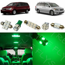 13 Piece Green LED interior conversion package kit and license plate lights HO1G