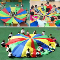 Parachute Outdoor Game Exercise Sport 8 Handles Kids Play Colorful Parachute USA