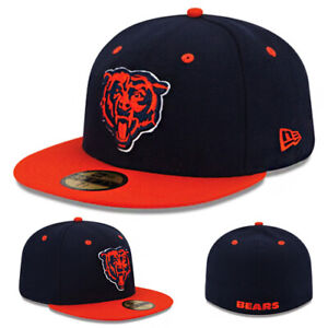 New Era Chicago Bears 59Fifty Fitted Hat Official NFL Team 2Tone Color Cap