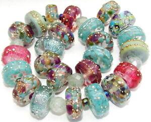 "Sistersbeads ""I-Moonwalk"" Handmade Lampwork Beads"