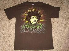 Mns sz M Brown Jimi Hendrix Flocked T Shirt