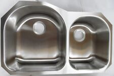 Elkay Dayton DXUH3119R Stainless Steel Double Bowl Undermount Kitchen Sink
