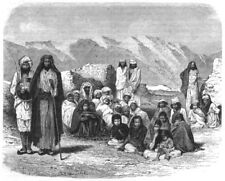 AFGHANISTAN. Mountaineers of Afghanistan c1880 old antique print picture