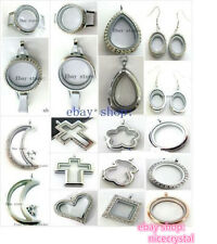 mixed lot style floating locket large living memory locket fit floating charms