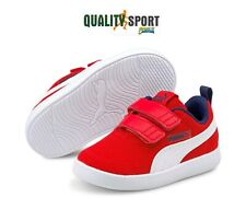 Puma Courtflex Rosso Scarpe Shoes Infant Bambino Sportive Sneakers 371759 06