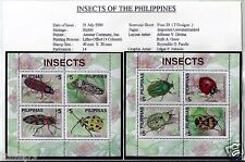 Philippines (2000) - Beautiful Insects of the Philippines MS (MNH)
