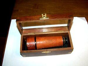 Desktop Telescope Wood Box  Kelvin & Hughes