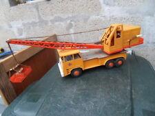 Vintage tin truck crane toys ancien jouet camion grue tole FAUN GAMA