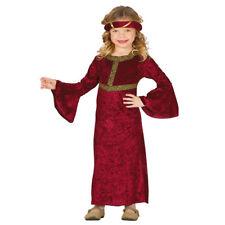 Ragazze Bambini Principessa Reale Costume Medievale Costume Vestito storia libro settimana