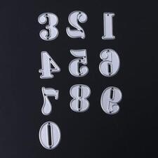 Metal Cutting Die - NUMBERS 0-9 - Scrapbooking - DIY-Crafting - Cardmaking