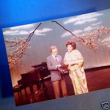 MET OPERA Diva BIRGIT NILSSON with Dick Cavett Television Performance PHOTOGRAPH