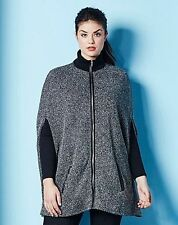 Polyester Plus Size Poncho Coats & Jackets for Women