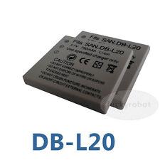 2 x New Battery for Sanyo DB-L20 DBL20 Xacti VPC-C4V VCP-CG9 VPC-C1 DMX-C4(D)