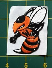 "Waynesburg University bee patch 2.5"" tall embroidered Bee"