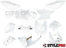 accessoire de déguisement Kit 12 parties carénage blanc mat YAMAHA AEROX NITRO