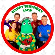Wiggles Edible Round Cake Image ICING Birthday Personalised Topper